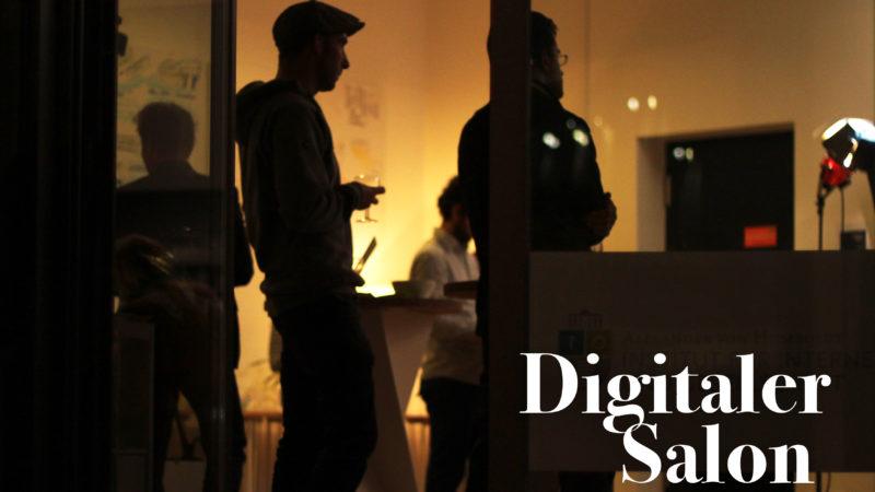Gäste beim digitalen Salon