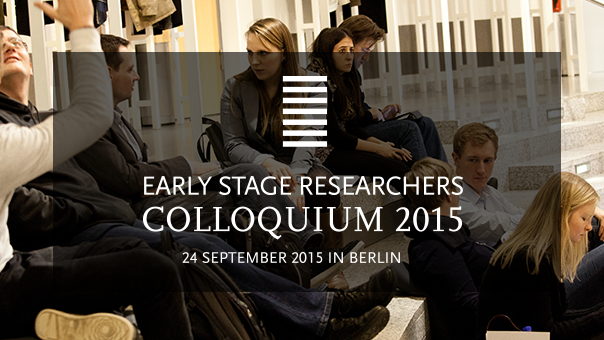 Early Stage Researcher Colloquium 2015