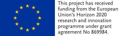 EU Flagge mit Förderungsnummer für das jeweilige Projekt.