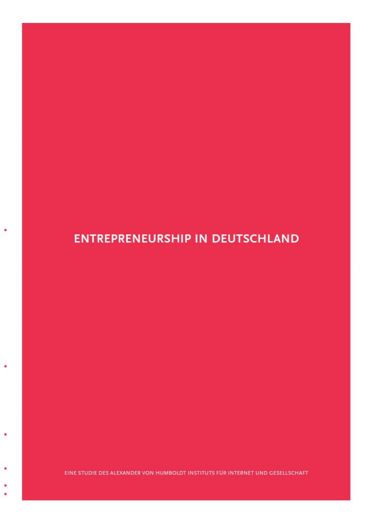 Entrepreneurship in Deutschland Cover