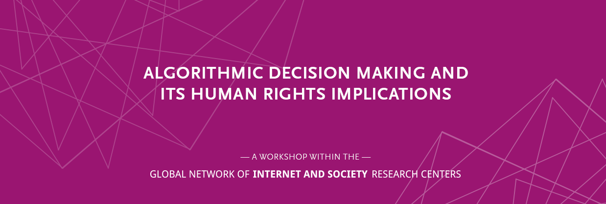 Banner image – Algorithmic decision making and its human rights implications – a NoC event