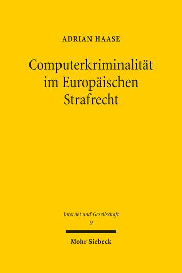 Computerkriminalität im Europäischen Strafrecht - Cover