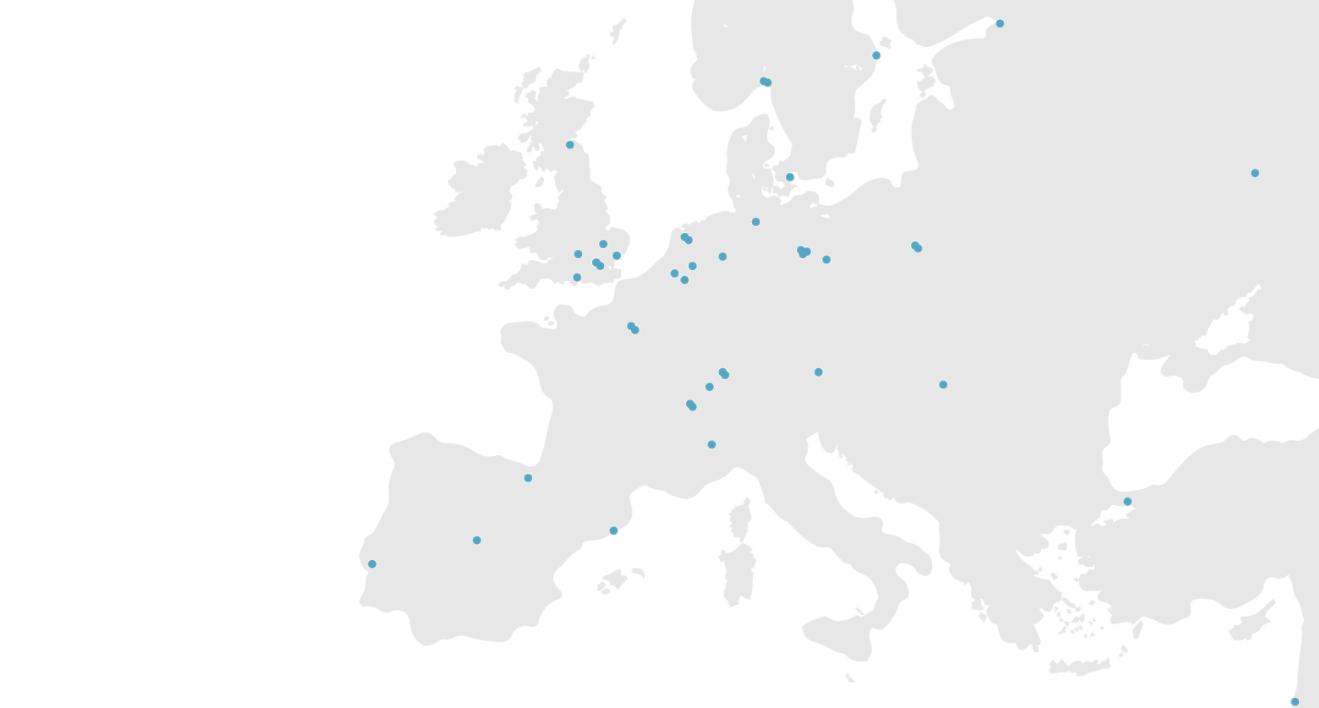European Hub Map