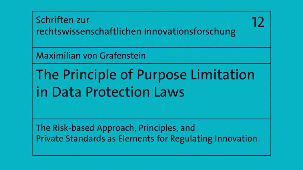 GDRP DSGVO Purpose Limitation
