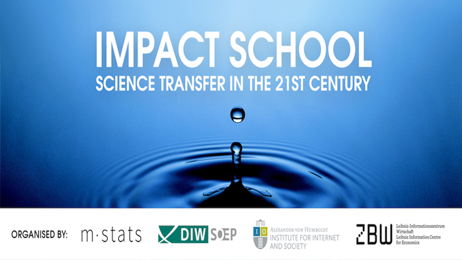 Impact School 2018: Science Transfer in the 21st Century