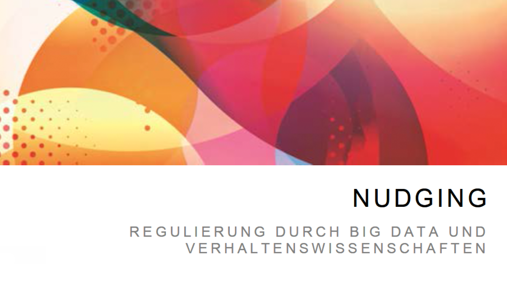 Cover der Studie: Big Data Nudging
