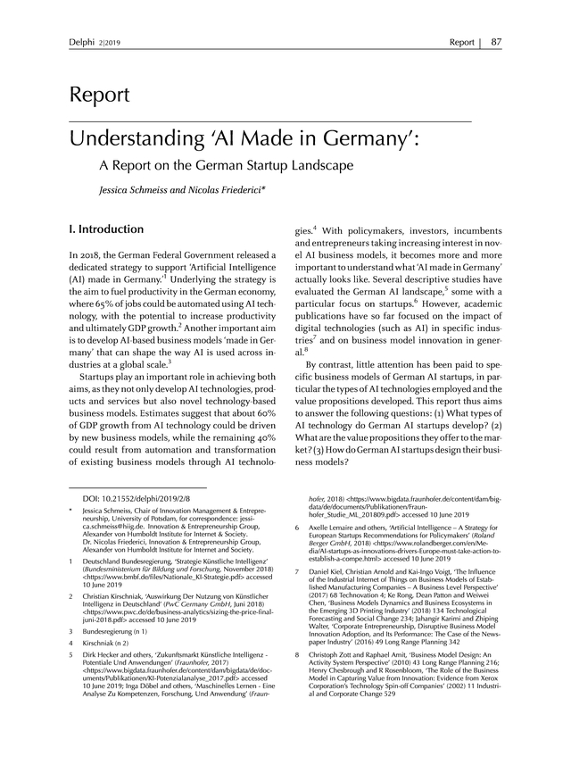 Understanding AI A Report on the German Startup Landscape