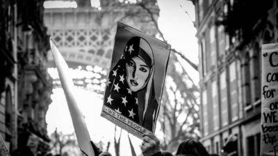 Protesters in Paris