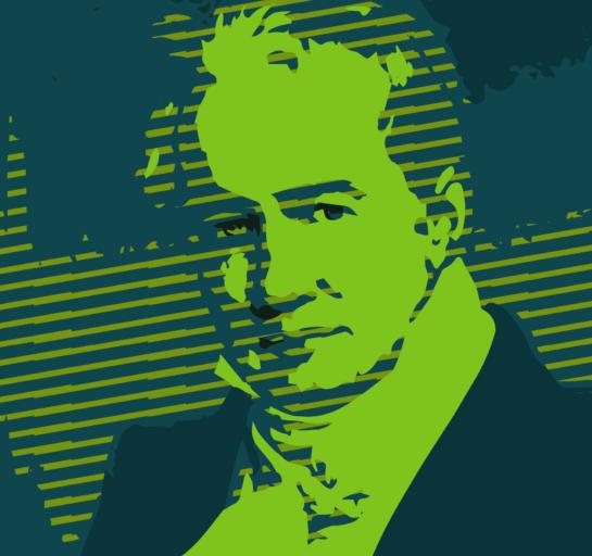 Alexander von Humboldt pop art portrait