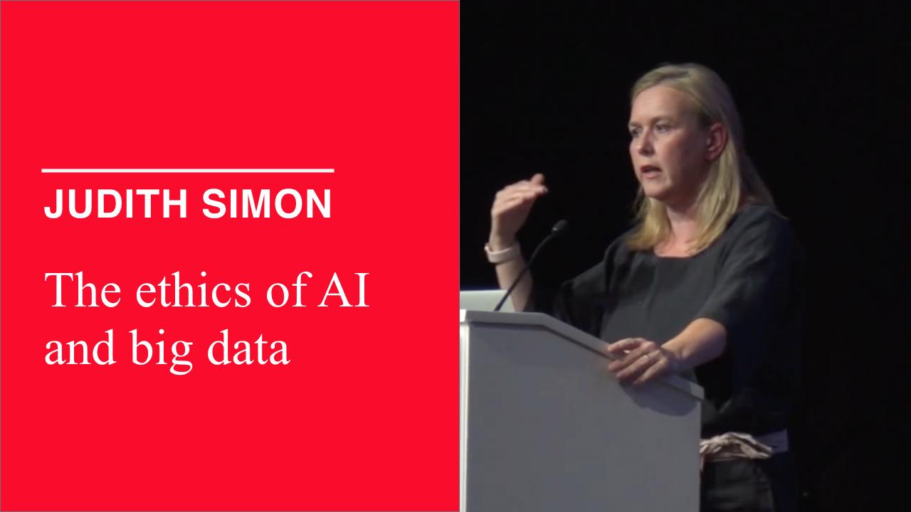 Judith Simon_Ethics of AI and big data