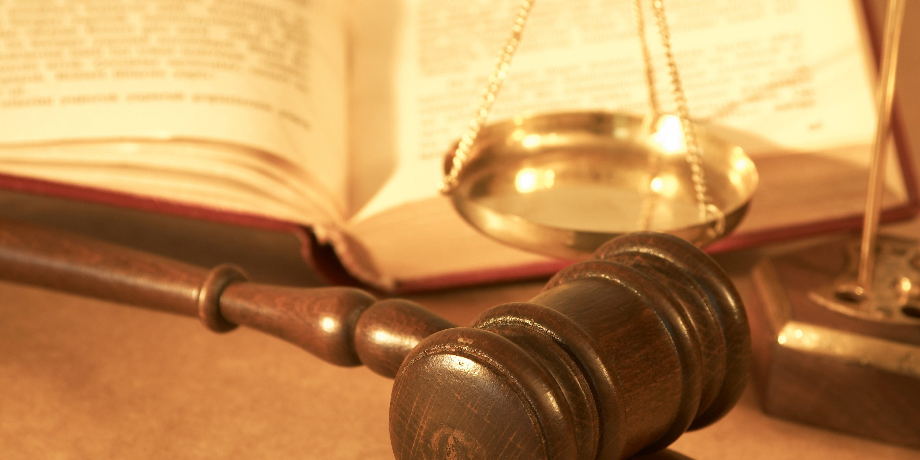 gavel and book close up, shallow dof