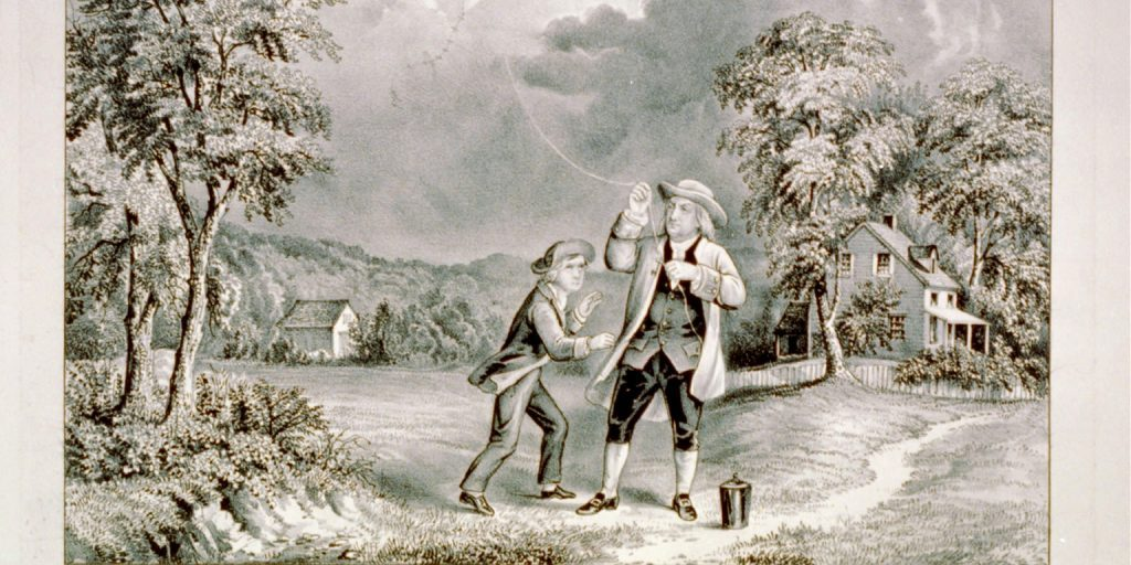 Benjamin_Franklin_Lightning_Experiment_1752