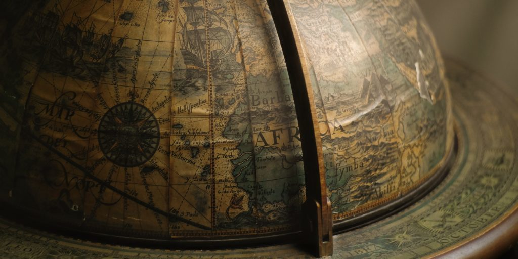 A Globe depiciting a fragmented world